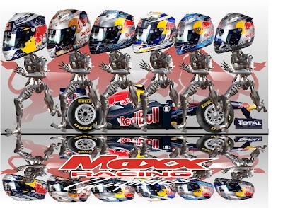 робот Себастьян Феттель на Red Bull побеждает в Валенсии Гран-при Европы 2011 Maxx Racing