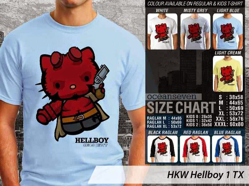 Kaos kartun lucu Hellboy 1 distro ocean seven
