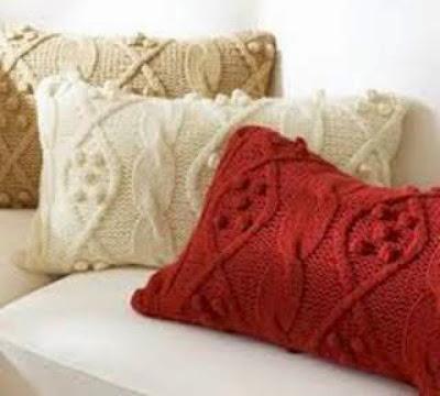 fall pillows, sweater pillows, pillows