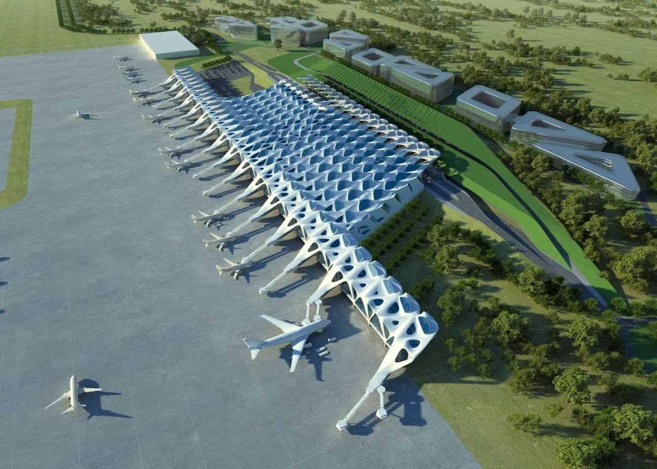 Londra, Regno Unito: New London Airport by Zaha Hadid