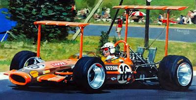 гонщик Джон Лав из Зимбабве за рулем Lotus 49 на Гран-при Южной Африки 1969 в Кьялами - картина Roman Goloseev