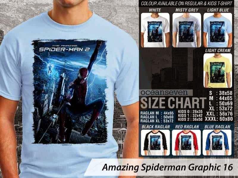 Kaos Film Superhero Amazing Spiderman Graphic 16 distro ocean seven