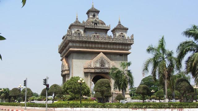 Patouxai - the Lao Arc de Triomphe.
