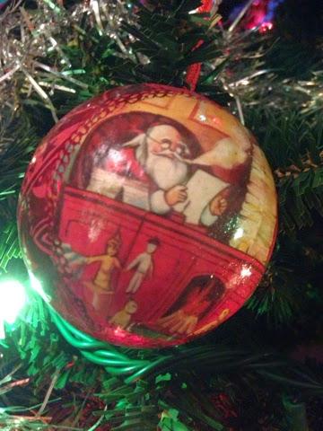Pallina di Natale con Babbo Natale