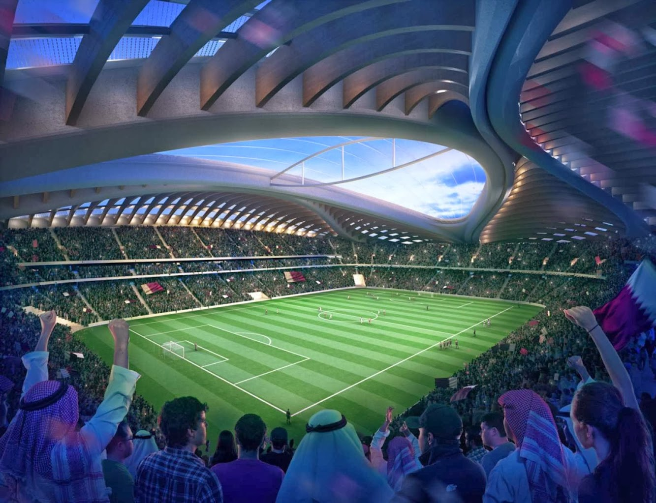 Al Wakrah stadium by Zaha Hadid and Aecom