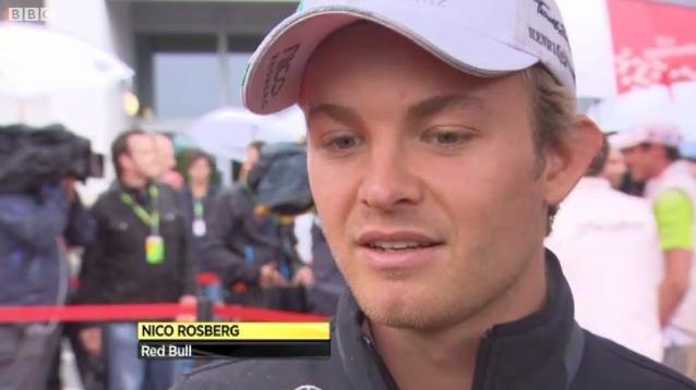 Red Bull в титрах BBC Нико Росберга