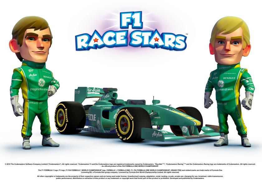 пилоты Caterham Виталий Петров и Хейкки Ковалайнен в F1 Race Stars