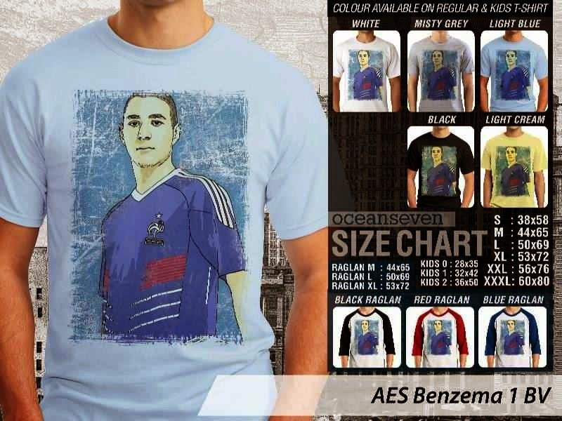 Kaos Benzema 1 Karim Benzema distro ocean seven