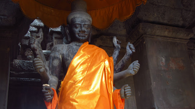 Angkor's temples are Hindu, not Buddhist.