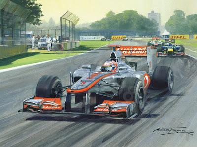 Дженсон Баттон за рулем McLaren в Альберт-Парке на Гран-при Австралии 2012 - картина Michael Turner