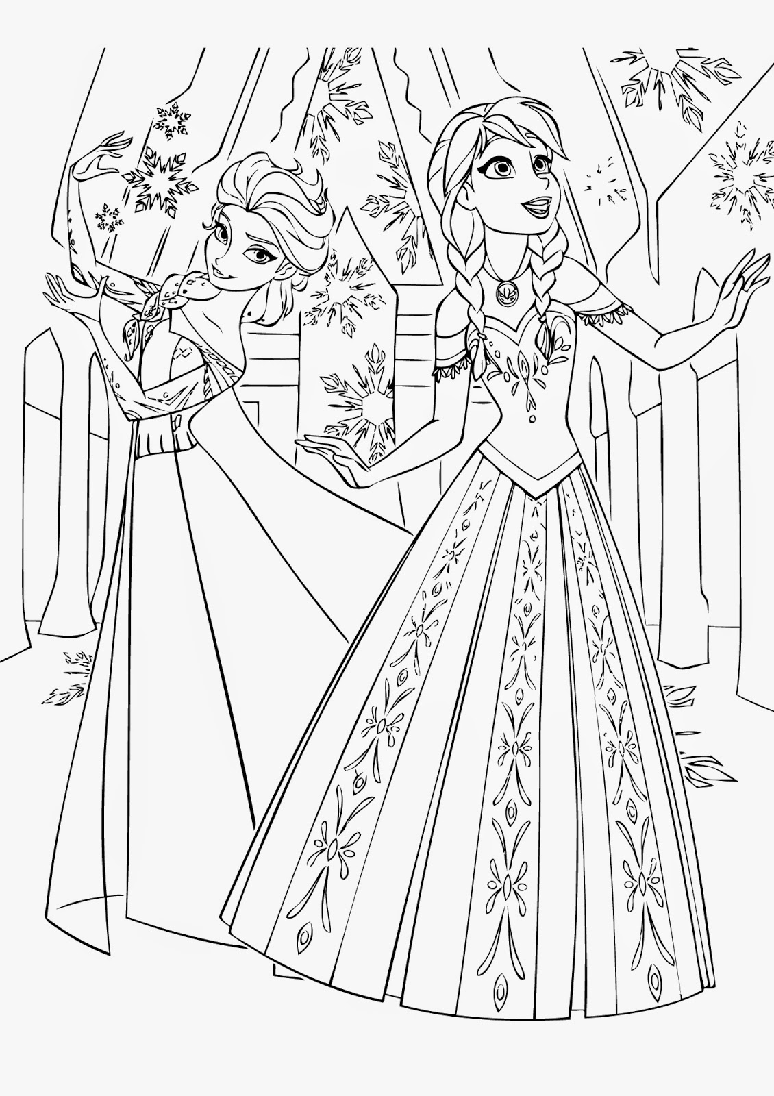 Frozen coloring pages printable games free coloring pages - free disney coloring pages frozen