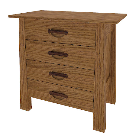 Matching Furniture Piece: Luxor Nightstand with Drawers, Medium Oak