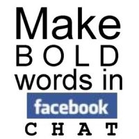how to style font with bold italic underline on facebook chat