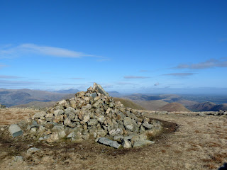 The Knott Summit Cairn - Our first Wainwright of the day.
