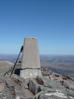 Bidein a Ghlas Thuill (An Teallach) 1062m Trig Point