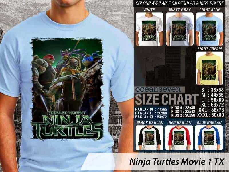 Kaos Movie Film Ninja Turtles Movie 1 distro ocean seven