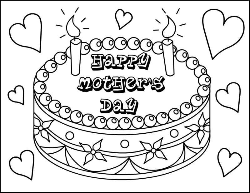 Free Mother's Day Coloring Pages Ministry-To-Children