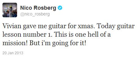Нико Росберг в твиттере