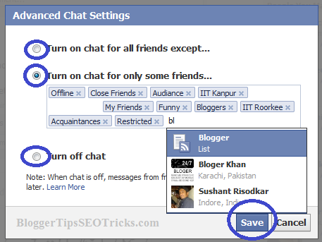 how to go online or offline on facebook