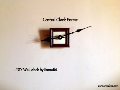 Wall clock with wooden frames