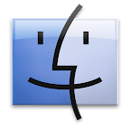 Mac OS X logo -left