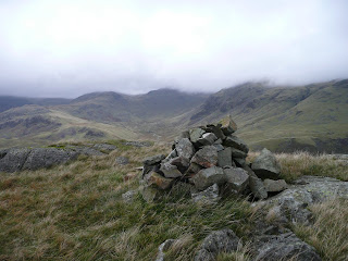 Cairn on descent from Hard Knott
