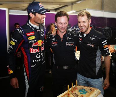 торт для Кристиана Хорнера на 40-летие на Гран-при США 2013
