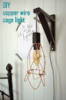 DIY copper wire cage light