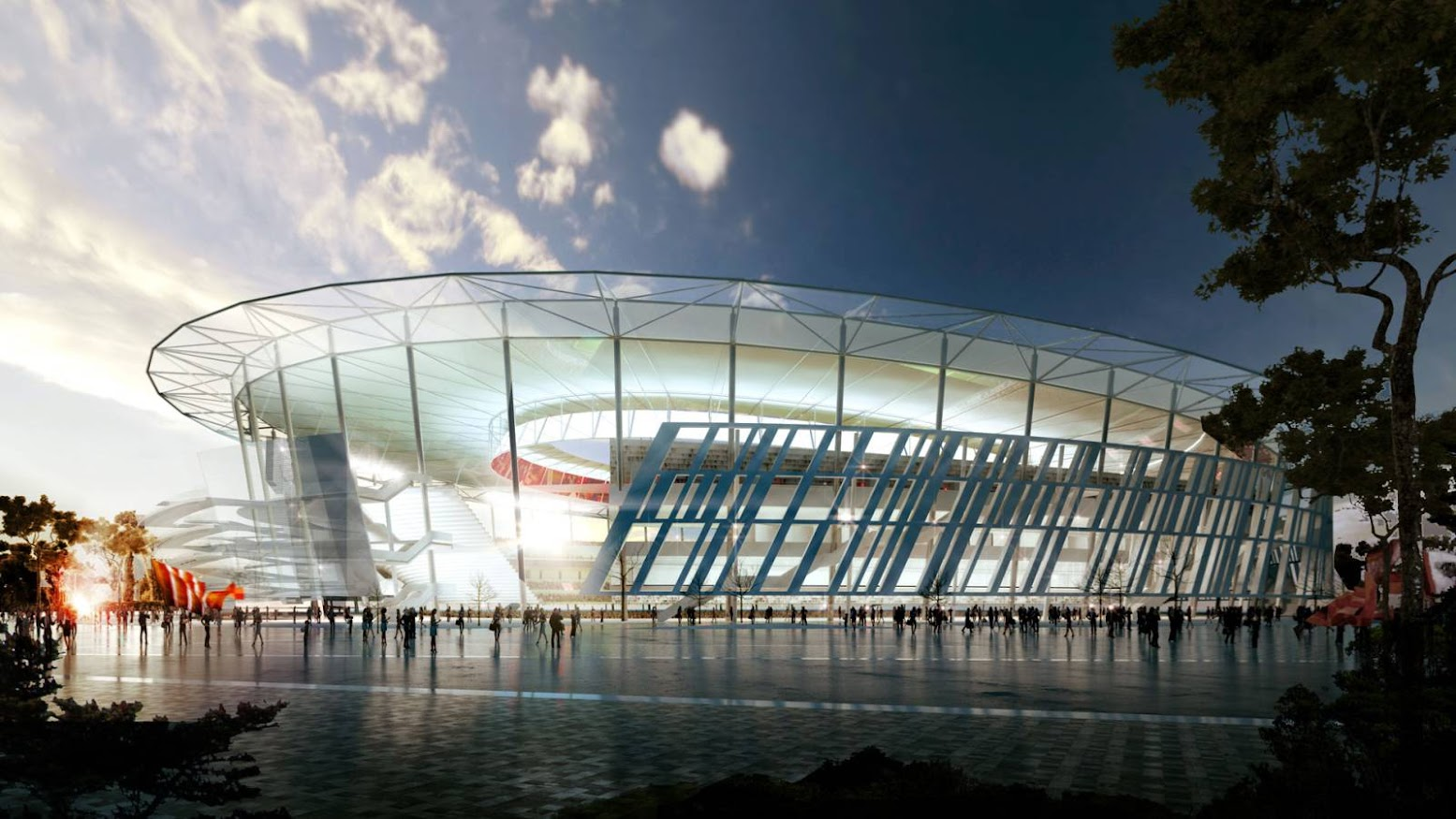 Roma, Italia: [NEW STADIUM IN ROME BY WOODS BAGOT]