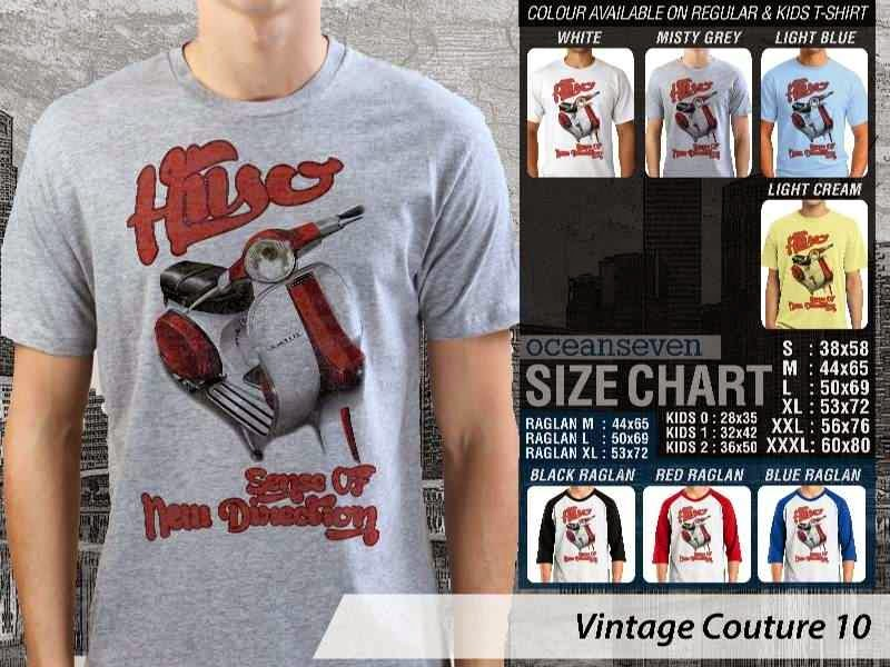 Kaos Vespa Hiyo Sense of New Direction Vintage Couture 10 distro ocean seven