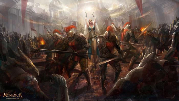 Hình nguyên họa tuyệt đẹp của Monarch Online - Ảnh 4