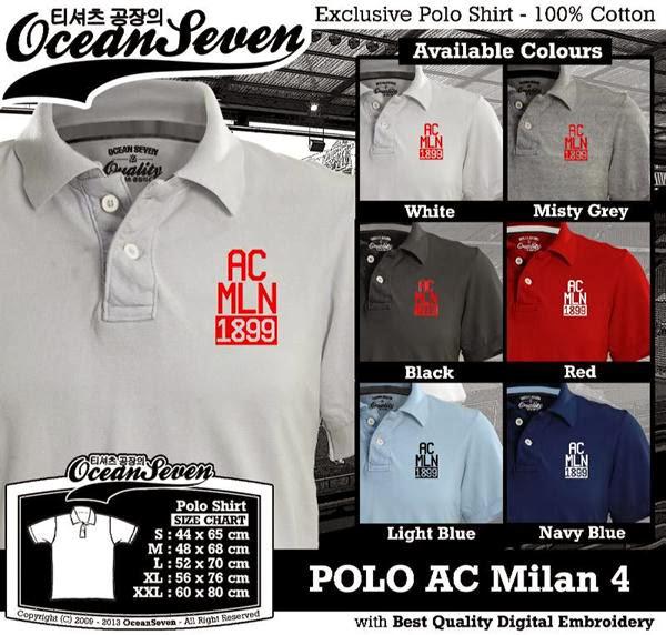 POLO AC Milan 4 Liga Italia distro ocean seven