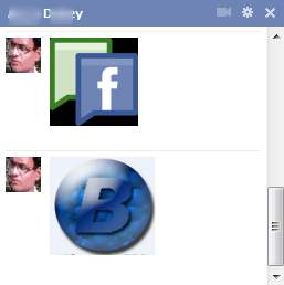 send images in Facebook chat box