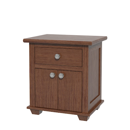 Monrovia Nightstand with Door, Modern Cherry