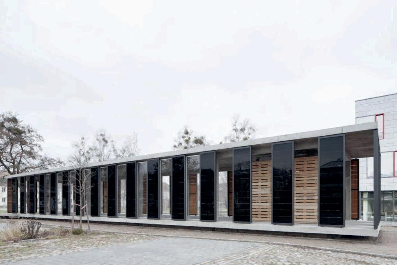 pavilion photovoltaic pavilion by ortner ortner baukunst hq architecture. Black Bedroom Furniture Sets. Home Design Ideas
