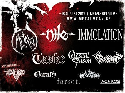 Metal Méan Festival @ Belgique 18/08/2012