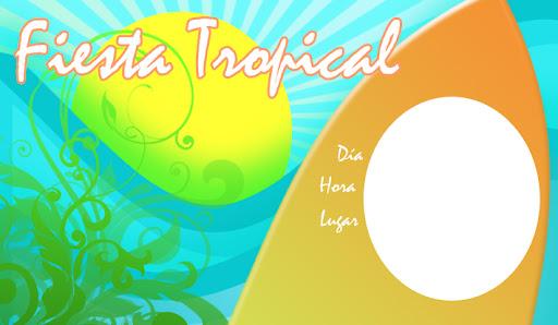 Invitaciones Fiesta Tropical