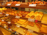 A yummy selection of dessert breads at Iwataya