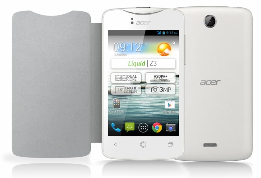 Acer Liquid Z3 - Spesifikasi Lengkap dan Harga