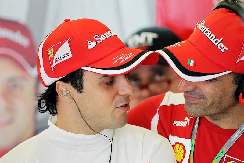 Фелипе Масса и Марк Жене на Гран-при Австралии 2012