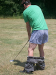 The penalty for not hitting the ball past the ladies tee is hitting your next shot with your pants down