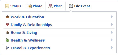 Life event / peristiwa penting di profile kronologi