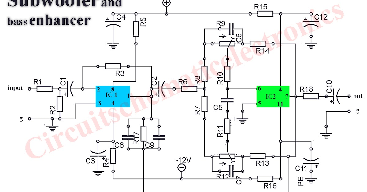 Subwoofer booster circuit circuit diagram asfbconference2016 Choice Image
