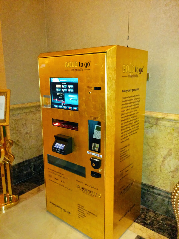 Gold ATM at Emirates Palace
