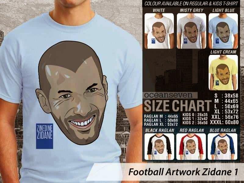 KAOS Zinedine Zidane Artwork Bola distro ocean seven