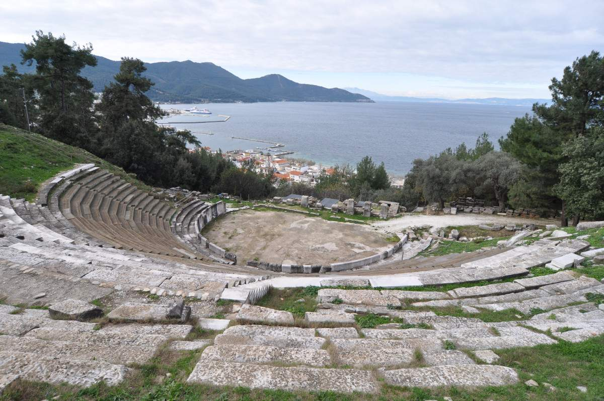 Ancient theatre of Thasos restored with local marble