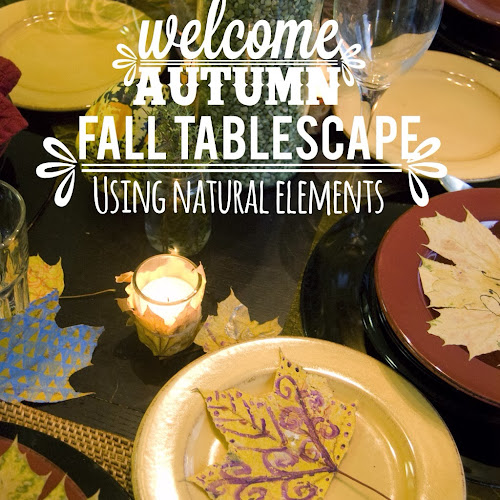 Thanksgiving Tablescape using natural things