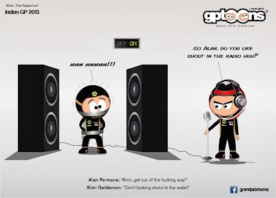радиопереговор Кими Райкконена на Гран-при Индии 2013 - комикс Grand Prix Toons