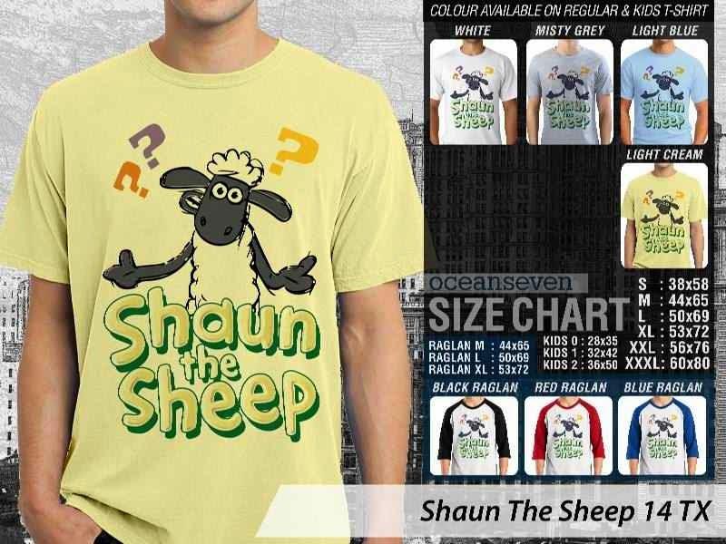 Kaos Movie Shaun The Sheep 14 distro ocean seven