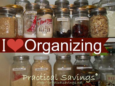 Organizing the Kitchen - http://practicalsavings.net